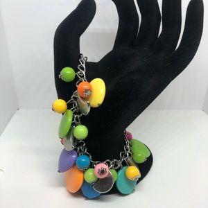 80s neon charm bracelet